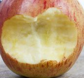 Gebissener Apfel lizenzfreies stockbild
