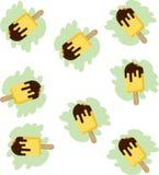Gebissener gelber StockEiscremehintergrund Lizenzfreies Stockbild