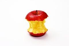 Gebissener roter Apple stockbilder