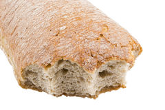 Gebissenes Brot Stockfotos