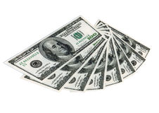 Gebläse der Gelddollar Stockfoto