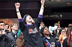 Gebläse SS4 im Times Square stockfotografie