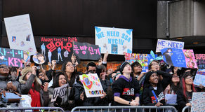 Gebläse SS4 im Times Square lizenzfreie stockfotos