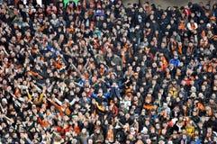 Gebläse und Anhänger auf einem Sektor Lizenzfreies Stockbild