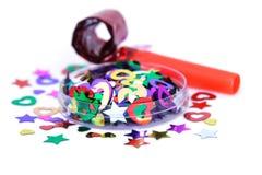 Gebläse und Confetti Lizenzfreies Stockfoto