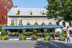 Geblühte Terrasse Stockfoto
