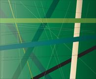Gebladerte Criss Cross Abstract Green Background royalty-vrije illustratie