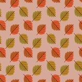 Gebladerte naadloos patroon voor de herfst Royalty-vrije Stock Foto