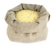 Geblancheerde rijstzak Stock Foto