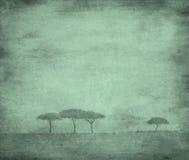Gebleekt beeld van bomen royalty-vrije illustratie