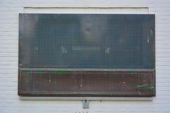 Geblendetes Fenster, Sicherheit Stockfoto