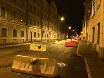 Geblockte Straße Stockbild