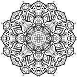 Gebloeid Bloemblaadje Mandala Royalty-vrije Stock Afbeeldingen
