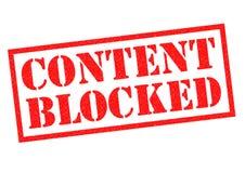 Geblokkeerde inhoud royalty-vrije illustratie