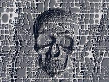 Geblokkeerde schedel. stock illustratie
