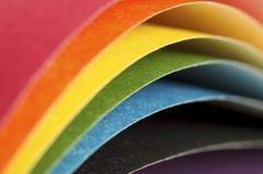 Gebogen bladen van gekleurd document Stock Afbeelding