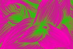 Gebogen bladeren abstracte textuur Roze en groen levendig gradiënteffect stock fotografie