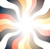 Gebogen de kruising van het perspectief en radiale lijnen Stock Afbeelding