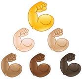 Gebogen emoji van de bicepsenhand vector illustratie