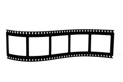 Gebogen filmstrip stock afbeeldingen