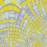 Gebogen gele purpere grijs van het strepenpatroon diagonaal Royalty-vrije Stock Foto