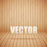 Gebogen houten binnenland als achtergrond Vector Royalty-vrije Stock Fotografie