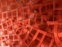 Gebogen patroon - abstract digitaal geproduceerd beeld Royalty-vrije Stock Fotografie