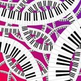 Gebogen pianotoetsenbord Stock Foto