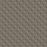 Gebogen in reliëf gemaakt verdraaid naadloos patroon Stock Foto's