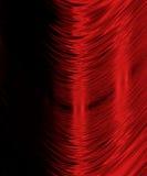 Gebogen rode lijnen op zwarte Stock Foto