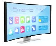Gebogen TV Stock Foto's