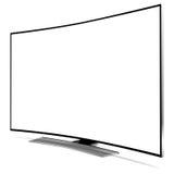 Gebogen TV Stock Afbeelding