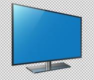 Gebogen TV 4k het ultrahd-scherm, leidde televisie geïsoleerde transparancyachtergrond Royalty-vrije Stock Foto's