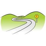 Gebogen weg vector illustratie
