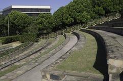 Gebogene Amphitheater-Sitze Stockfotos