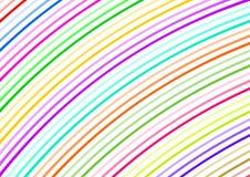 Gebogene bunte kleine Streifen diagonal Stockfotografie