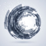 Blauer abstrakter Technologiehintergrund vektor abbildung