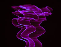 Gebogene purpurrote Linien Stockfotos