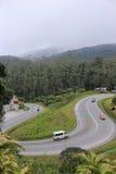 Gebogene Straße in Cameron Highlands Lizenzfreies Stockfoto