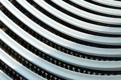 Gebogene Zeilen in einem Gebäude Stockfotos