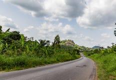 Gebogener Landstraße Ekiti-Zustand Nigeria stockfotografie