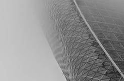 Gebogenes Fassaden-Gebäude Stockbilder