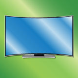 Gebogenes Fernsehen stockfoto
