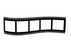 Gebogenes filmstrip Stockbilder