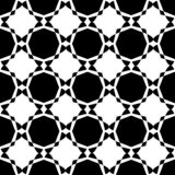 Gebogenes nahtloses Schwarzweiss-Muster stockbild