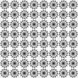 Gebogenes nahtloses Schwarzweiss-Muster lizenzfreie stockfotografie