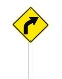 Gebogenes Straßen-Verkehrszeichen Lizenzfreie Stockfotografie