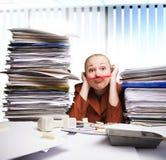 Gebohrt im Büro Lizenzfreie Stockfotografie