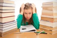 Gebohrt vom Studieren Lizenzfreie Stockfotos