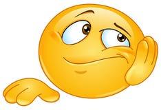 Gebohrter Emoticon Lizenzfreies Stockbild
